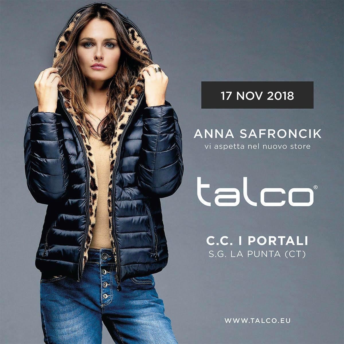 La Bella Attrice Anna Safroncik Per Il Nuovo Store Del Marchio Talco In
